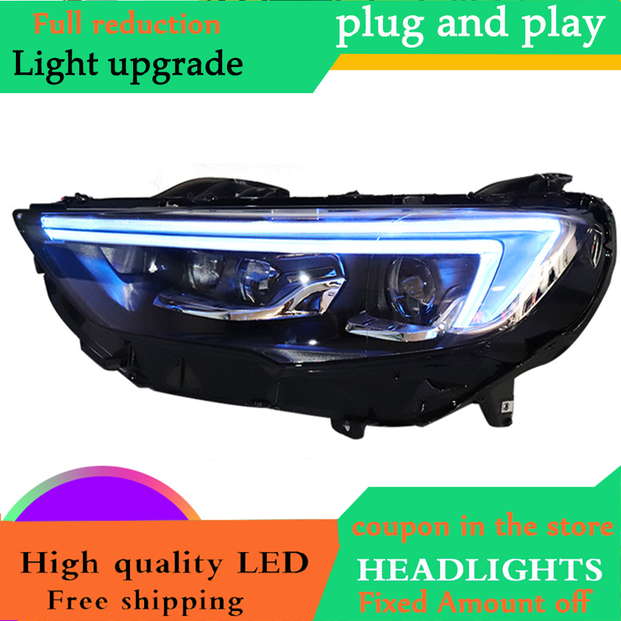 Car Styling for For Buick Headlights 2017 2018 Buick LED Headlight DRL Full LED High Low