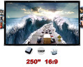 250 inches 16:9 Portable Wall Mounted Matt White Canvas Folding Outdoor Projection Screen for LED LCD HD Movie Projector Display