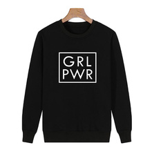 Fashion Women Pullover Tops GRL PWR Crewneck Sweatshirt New