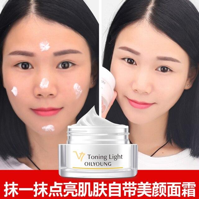 Hot sale maquillaje nude naturales de belleza cuidado de la cara crema para blanquear la piel del acné espinillas pecas moteado crema hidratante brillo
