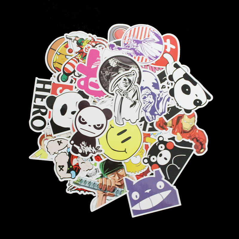 100 Pcs Type G Not Repeating Stickers Decor Toy Styling Television Decal Laptop Motorcycle Skateboard Doodle Diy Sticker