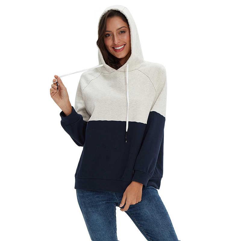100% 코 튼 패션 캐주얼 봄가 겨울 여성 까마귀 패치 워크 두꺼운 숙 녀 스웨터 풀 오버 플러스 크기 M30119