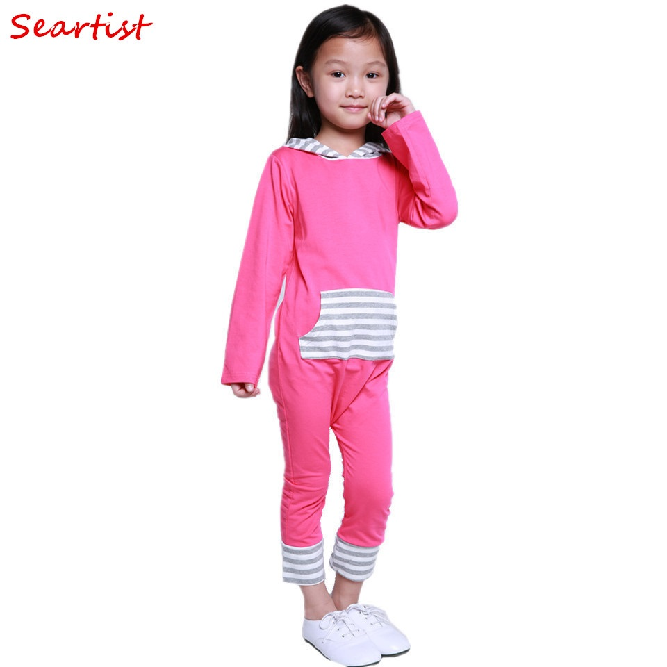 Seartist Baby Girls Spring Harem Romper Girl Cotton Hooded Jumpsuits Newborn Fashion Jumper Girls Striped Pajamas 2018 New 34