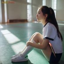 Милая японская школьная форма для девочек, спортивная одежда, костюм для косплея, Спортивная рубашка+ шорты Triangel/quartdangle комплект из 2 предметов, 2 цвета, косплей