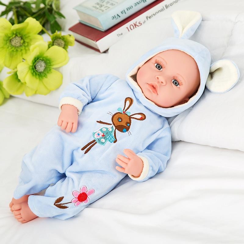 Ny 18-tommers livlig gjenfødt baby myk vinyl ekte touch dukke - Dukker og tilbehør - Bilde 2