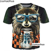 Cartoon Anime T-shirt 3d Animal Print Cute Bear with Glasses T-Shirt Vibrant T-Shirt Women Men's Summer T-Shirt Tops s-5xl