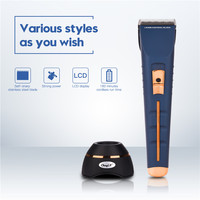 Professional Hair Clipper Electric Rechargeable Hair Cutting Machine Adjustable Motor Speeds and Fine Tuning Men's Trimmer P42