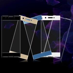 Image 3 - Für Sony Xperia XA1 3D Gebogene Volle Abdeckung Gehärtetem Glas für Sony XA1 G3112 G3116 Dual Sim Screen Protector Schutz film