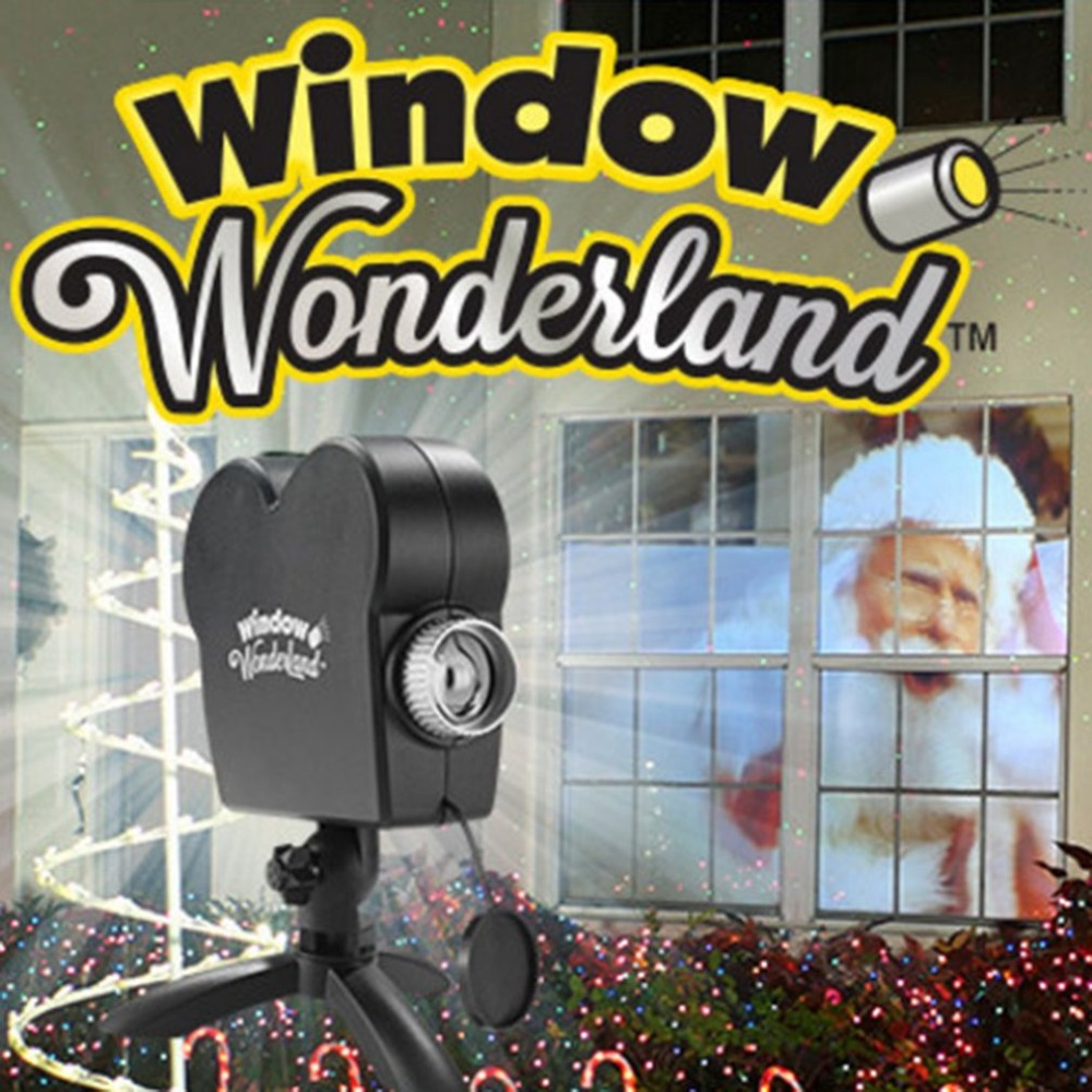 Window Wonderland Projector with 12 Movies Christmas Halloween Window Projector Party Holiday Decoration Dropshipping halloween creativity 3d stereotophora pumpkin window decoration wall stickers
