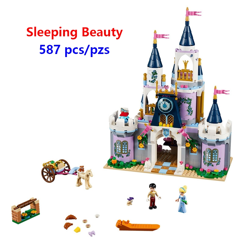 New Girls Gift Friends Sleeping Beauty Cinderella's Dream Castle Set Building Blocks Bricks Kids Toys Compatible With Lego