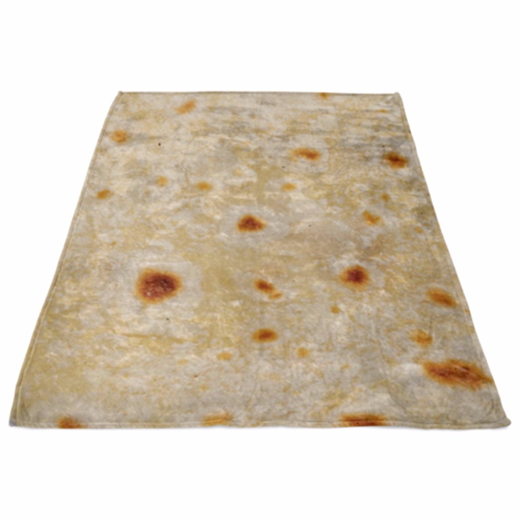 Ishowtienda Comfort Carpet Creations Realistic Food Novelty Blanket Perfectly Round Tortilla Throw On Bed Sofa Couch Smart Electronics Home Automation Modules