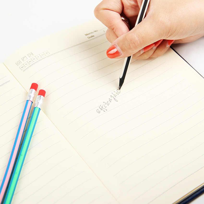 5PCS קוריאה חמוד מכתבים צבעוני קסם Bendy גמיש רך עיפרון עם מחק תלמיד בית ספר משרד שימוש