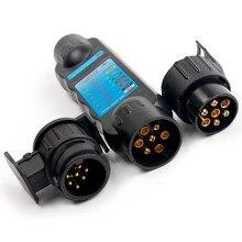 Airkul 12 V автомобильный тестер трейлера 7/13 Pin буксировочный свет Кабельный разъем с 2 адаптерами автомобильные аксессуары 13 до 7