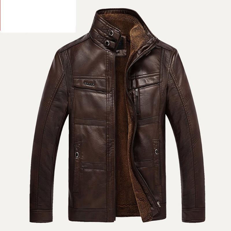 HTB1h.rhaOnrK1Rjy1Xcq6yeDVXaf XingDeng PU Brand High Leather Jacket Men Coats plus 5XL Quality  Outerwear Men Business Winter Faux Fur Male top clothes Fleece