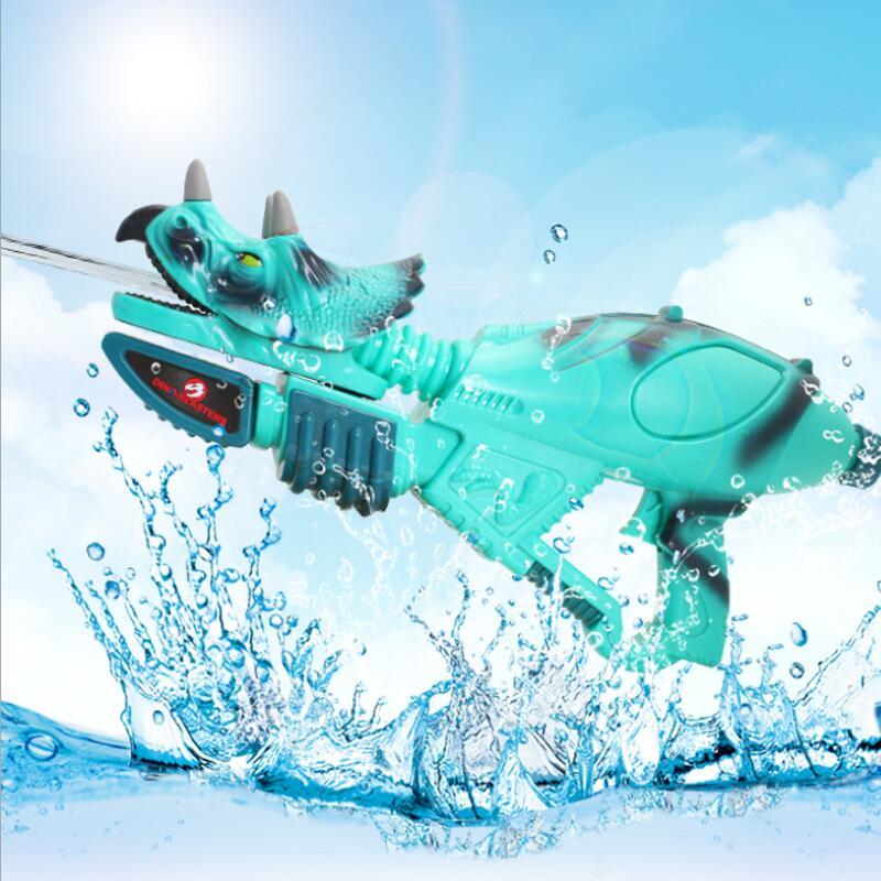 Simulation Dinosaur Water Gun Toy Dinosaur Pressure Toy Water Gun Summer Outdoor Shooting Water Parent-child Interactive Toy