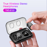 TWS 8 5.0 Wireless Headphone Bluetooth Headset Earphone with Mic Touch Control Stereo Bass auriculares bluetooth inalambrico