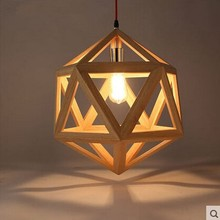 Nordic solid wood living room bedroom dining room hot pot shop bar front desk wooden pendant light