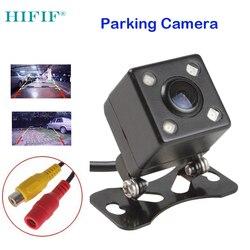 2019 neue Heiße Wasserdichte CCD Universal rückansicht kamera 4LED Nachtsicht Rückfahr Auto Kamera HD Auto rückansicht Parkplatz kamera