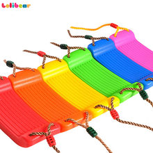 6Colors Children's Replacement Swing Seat with Height Adjustable Ropes Climbing Frame Outdoor Indoor Sports Toys for Kids 3+(China)