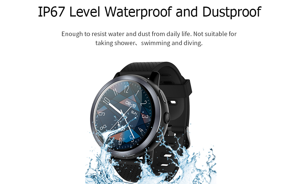 LEMFO LEM8 4G Smart Watch Phone Android 7.1.1 2GB + 16GB Support GPS WiFi Nano SIM card Heart Rate monitor 2MP Camera Smartwatch (4)