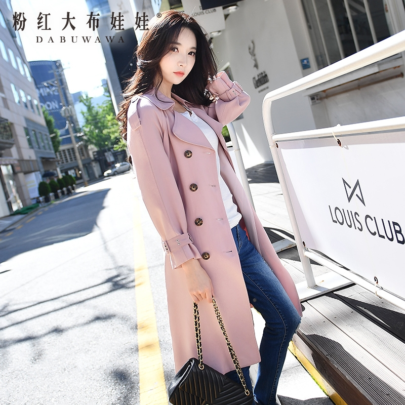 original windbreaker 2017 new autumn fashion elegant double-breasted long trench coat for women wholesale