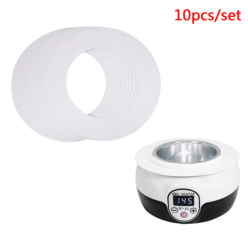 10pcs/set 14OZ Standard Melt Wax Cleaning Ring Body Shaving Hair Removal Tools Waxing Machine Cleaning Protection Paper Ring