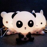 LED Desk Night Lights Panda Rabbit Dog Bear Cartoon Baby Room Nightlights Kids Bed Lamp SleepingTable
