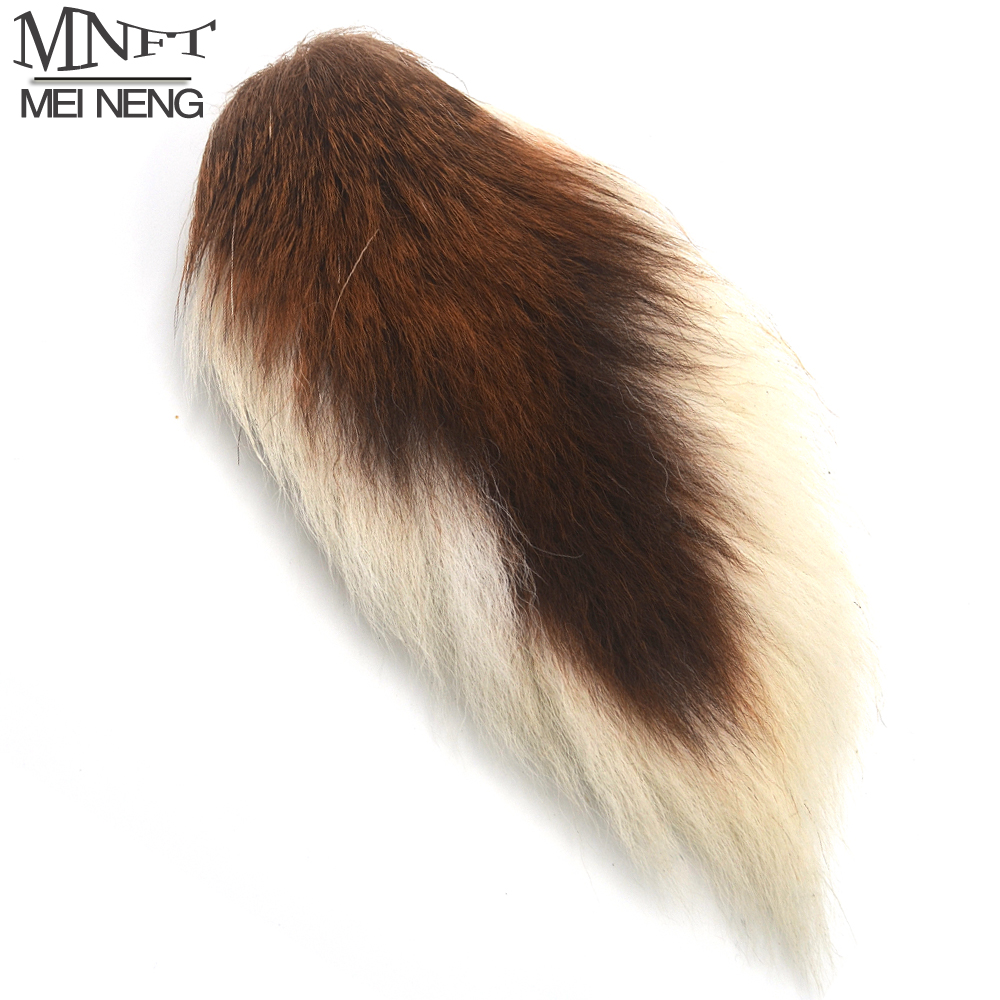 MNFT Free Shipping 1 Piece Natural Color Brown Deer Tail Hair for Fly Tying Material DIY Hack Elk Bucktails Fly Fishing