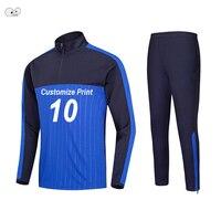 Customize Adults Kids Winter Soccer Jerseys Kit Football Training Tracksuit Set Sports Uniforms Suit Running Fitness Sportswear
