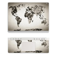 2017 Laptop World Map Sticker For Micro Surface Book Top Vinyl Decal Wrist Pad Sticker Left