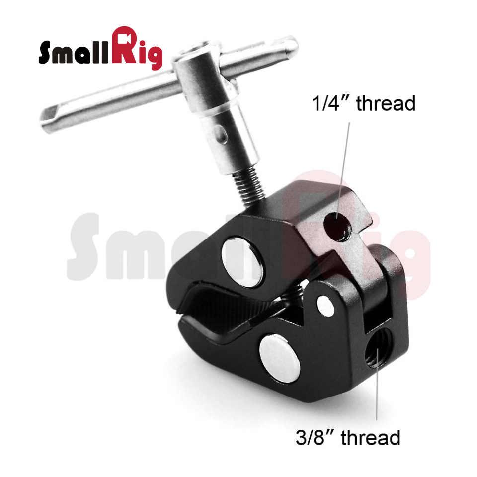 """SmallRig Super Clamp w/1/4 """"и 3/8"""" Резьба для камер, огней, зонтов, крючков, полок, листового стекла, поперечных стержней и т. д.-735"""