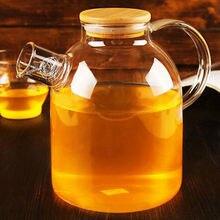 Große Kapazität Drink 1500 ml glas teekanne blume teekanne wasserkocher Mit bambus deckel