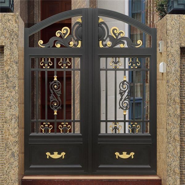 Home Aluminium Gate Design / Steel Sliding Gate / Aluminum Fence Gate Designs Hc-ag15