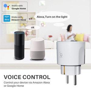 Image 4 - Prise intelligente de WiFi de prise de WiFi de lue 16A avec le contrôle dappli de synchronisation, Mini commande intelligente de voix de maison dalexa Google Compatible