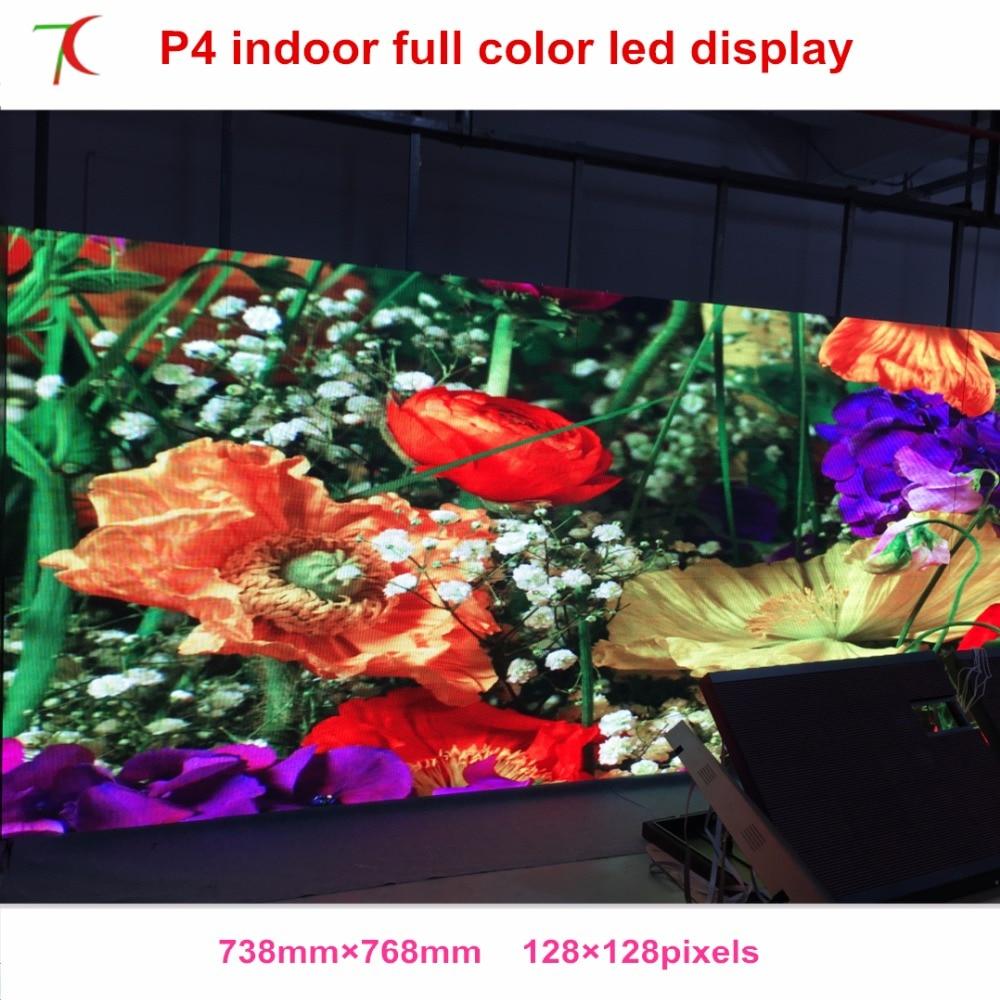 768*768mm P4 Indoor Smd2121 Black Lamps Led Bill Board