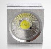 Free kargo yüksek kalite dim 9 w cob kare tavan spot, alüminyum, aşağı led ışık, reflektör lamba, spot led
