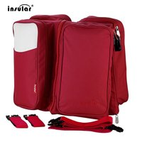 INSULAR Large Capacity Multifunctional Mummy Backpack Portable 600D Nylon 2 In 1 Travel Baby Diaper Bag
