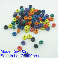 400pcs Colorful Tattoo Grommet Soft H Type For Machine Gun Supply GRT02-400#