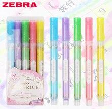 5 sztuk/zestaw kolor japonia Zebra KIRARICH błyszczący perłowy zestaw długopisów WKS18 kolorowy zakreślacz markery pióro szkolne