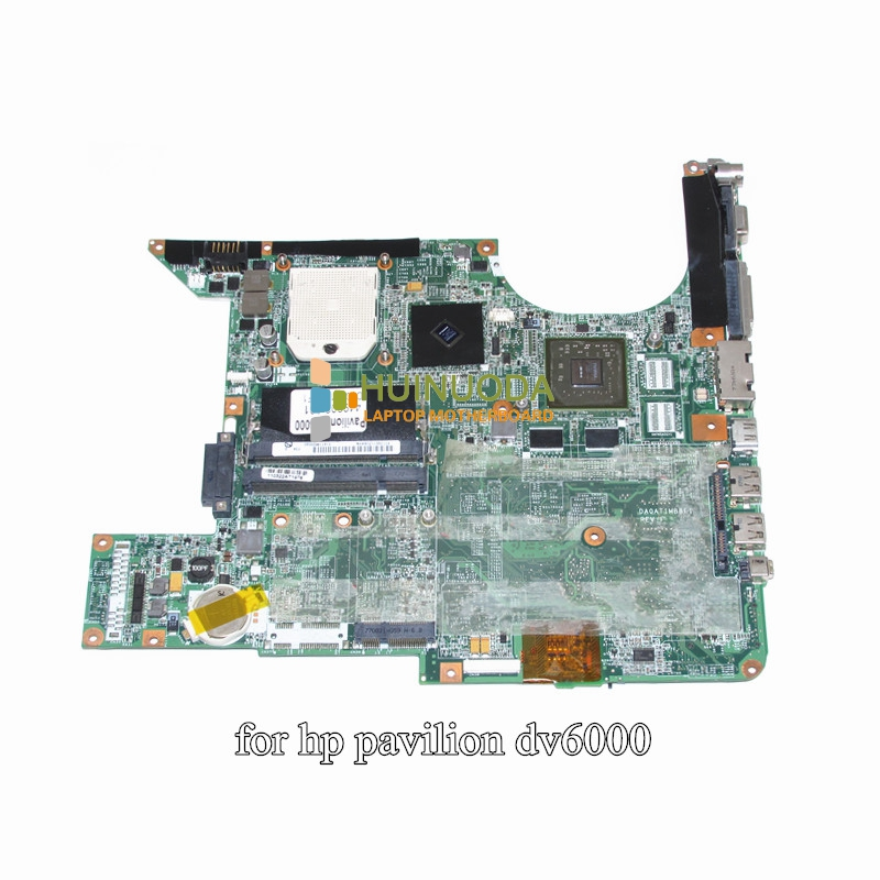 NOKOTION 449902-001 For Hp DV6000 DV6500 DV6600 Laptop Motherboard Socket s1 DDR2 GeForce 8400M with Free CPU DA0AT1MB8F1 nokotion laptop motherboard for hp dv6000 dv6500 dv6600 s1 449902 001 main board da0at1mb8f1 ddr2 geforce 8400m with free cpu