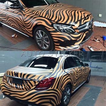 5/10/15/20/25/30m*1.52m Zebra Skin Camouflage Wraps Adhesive PVC Vinyl Film Car Wrap Racing Car Camo Sticker Vehicle DIY Decal