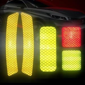 Image 4 - 4 Uds. Cinta reflectante coche advertencia pegatina para marcar accesorios Exterior para Chevrolet Cruze OPEL MOKKA ASTRA J Hyundai Solaris Accent