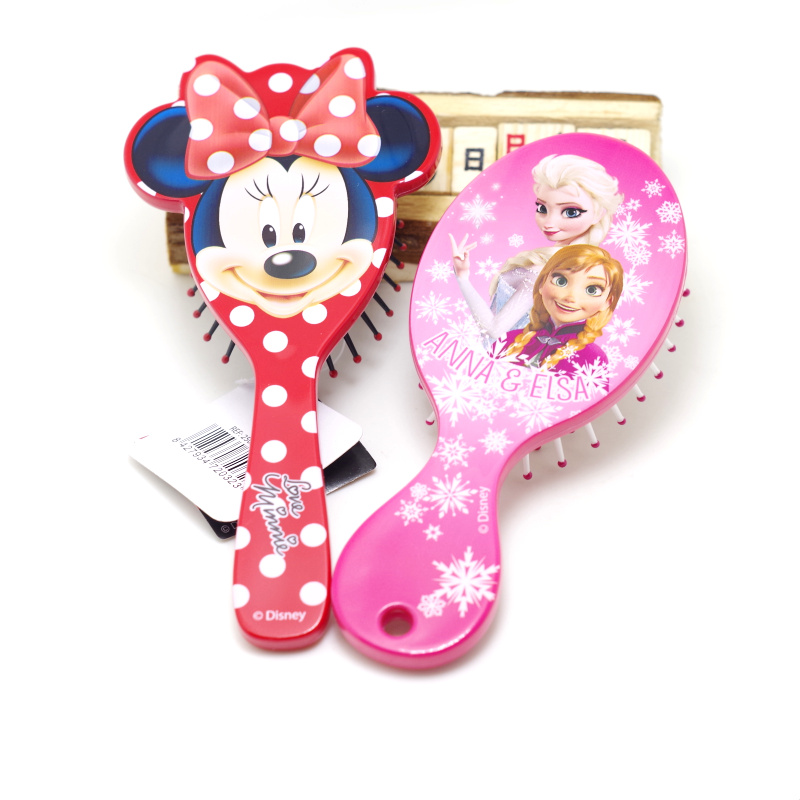 Disney 1pcs Cartoon Magic Detangling Handle Shower Anti-Static Hair Brush Comb Salon Styling Tamer Tool Mickey Kids  Hair Combs