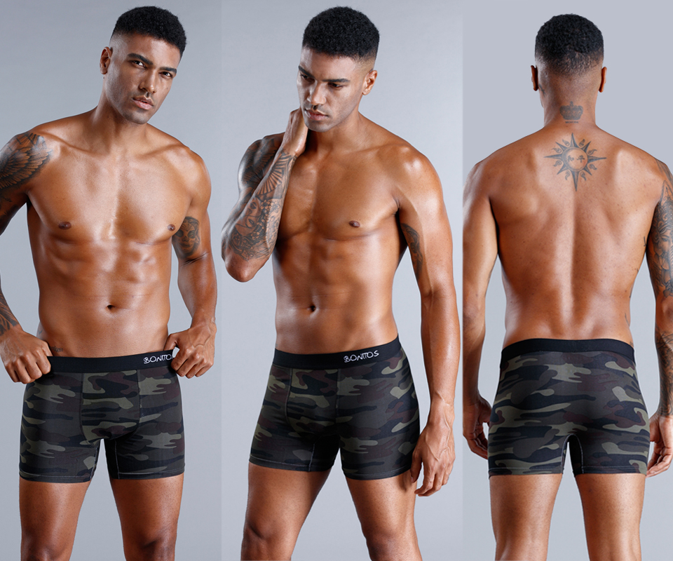 8Pcs/lot Camouflage Boxer Men Underwear Men Boxer Shorts Boxershorts Men Underwear Boxers Sexy Cotton Underpants Trunk Plus