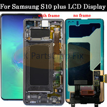 AMOLED For Samsung Galaxy S10 2019 SM G9730 G973F LCD Display Touch Screen Digitizer Replacement For SAMSUNG S10 Plus G9750 LCD