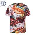 2017 Hip Hop Camisetas Tops T Homme Camisetas de Fitness 3d impresso vegas padrão marca de moda do vintage clothing overed tamanho XXXL