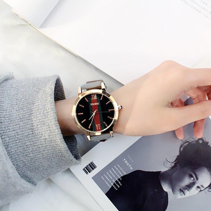 Fashion Women Watches 2019 Best Sell Leather Strap Quartz Watch Female Clock Casual Dress Wristwatch Waterproof Ladies Watch