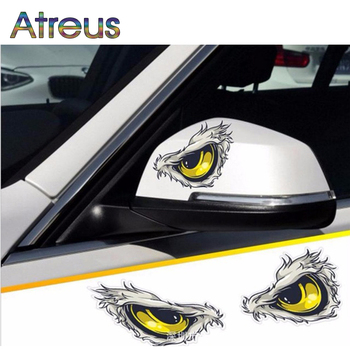 Atreus 2pcs Car Styling 3D Eagle Eyes Stickers For BMW E46 E39 E60 E90 E36 F30 F10 Mini Cooper Audi A4 B6 B7 B8 Auto Accessories image