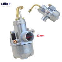 GOOFIT 12mm Carburetor Puch Moped Bing Style Carb Stock Maxi Sport Luxe Newport Cobra Carburettor N090