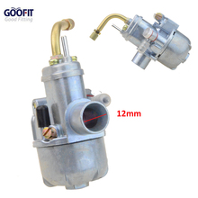 GOOFIT 12mm Carburetor Puch Moped Bing Style Carb Stock  Maxi Sport Luxe Newport Cobra Carburettor N090-114